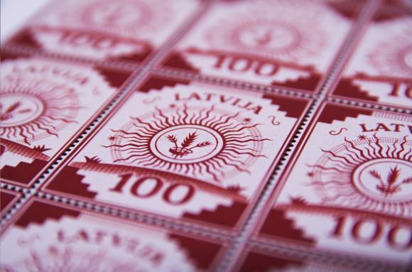 Latvia's Centenary stamps